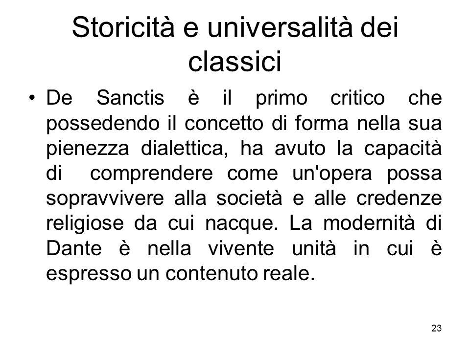 Storicità e universalità dei classici