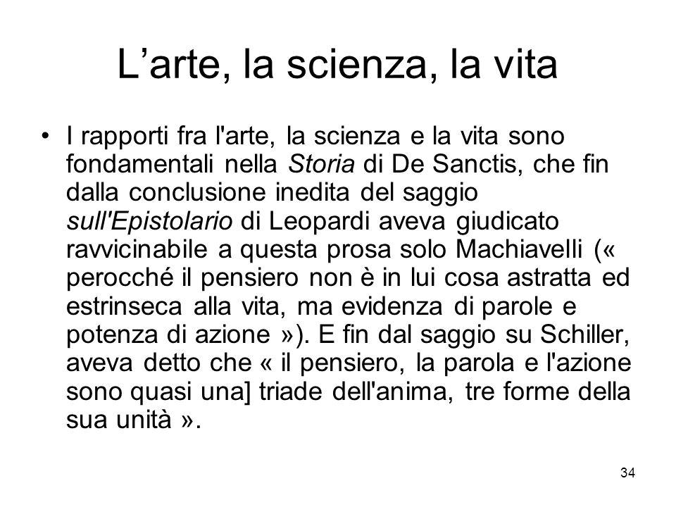 L'arte, la scienza, la vita