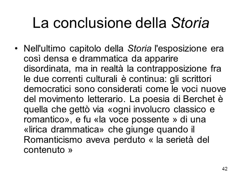 La conclusione della Storia