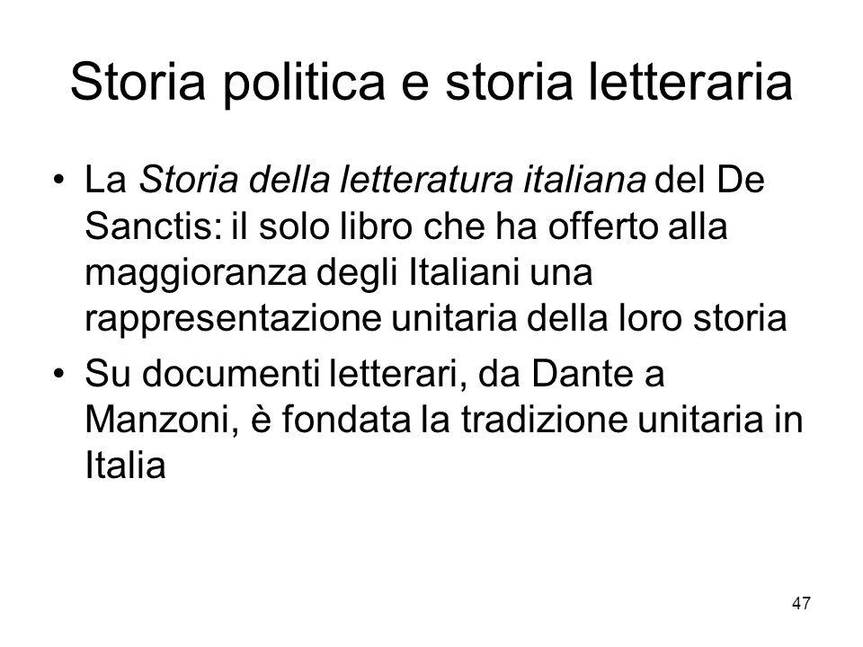 Storia politica e storia letteraria