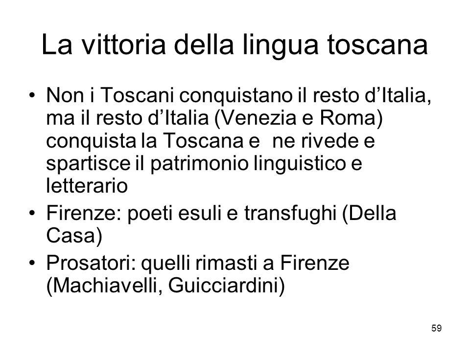 La vittoria della lingua toscana