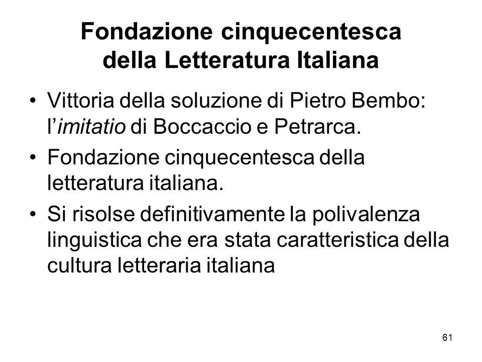 Fondazione cinquecentesca della Letteratura Italiana