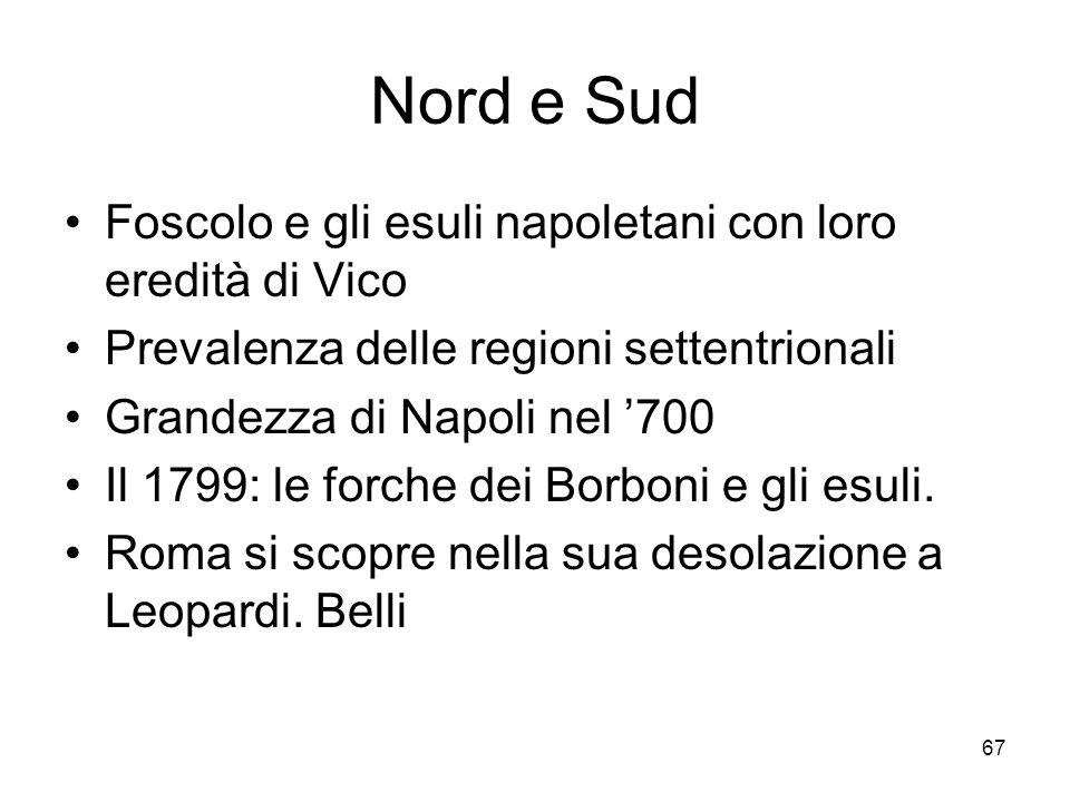 Nord e Sud Foscolo e gli esuli napoletani con loro eredità di Vico