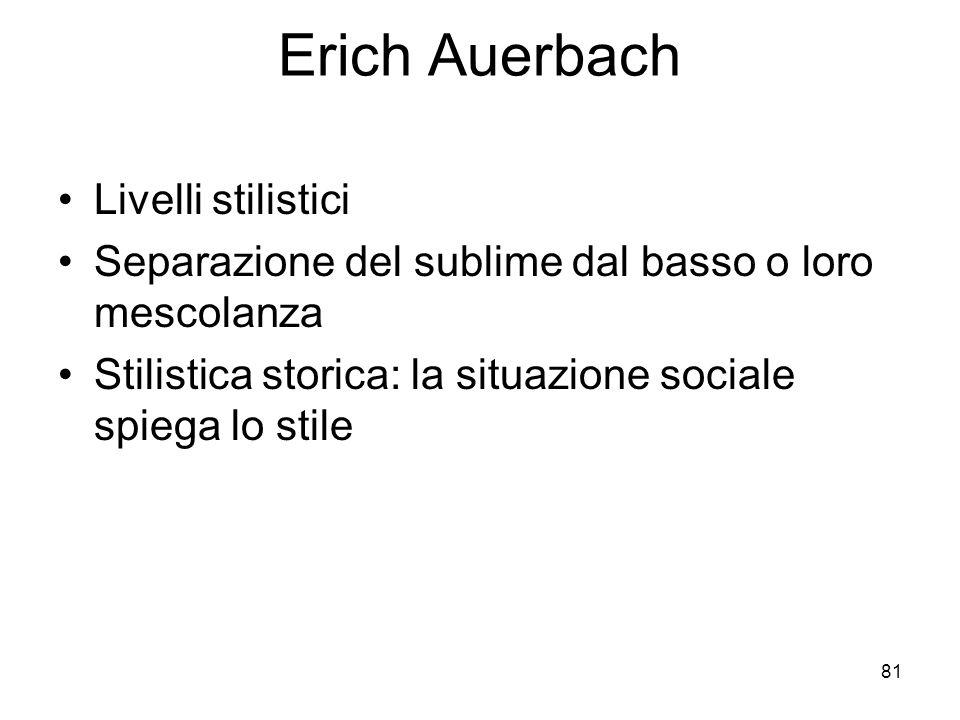 Erich Auerbach Livelli stilistici