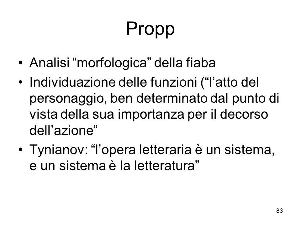Propp Analisi morfologica della fiaba