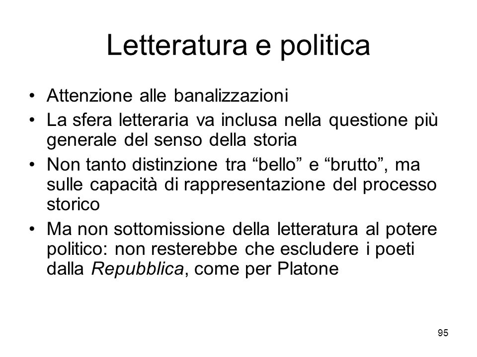 Letteratura e politica