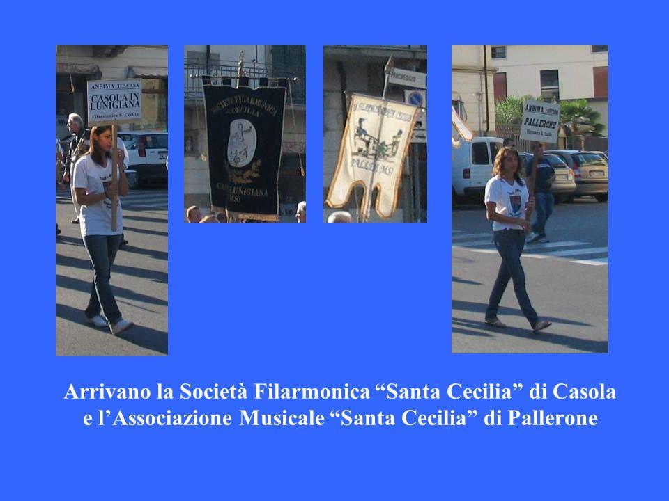 Arrivano la Società Filarmonica Santa Cecilia di Casola e l'Associazione Musicale Santa Cecilia di Pallerone