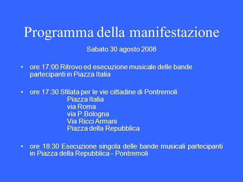 Programma della manifestazione