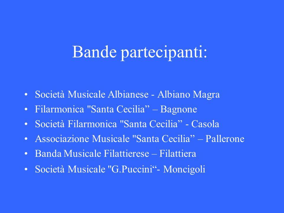 Bande partecipanti: Società Musicale Albianese - Albiano Magra