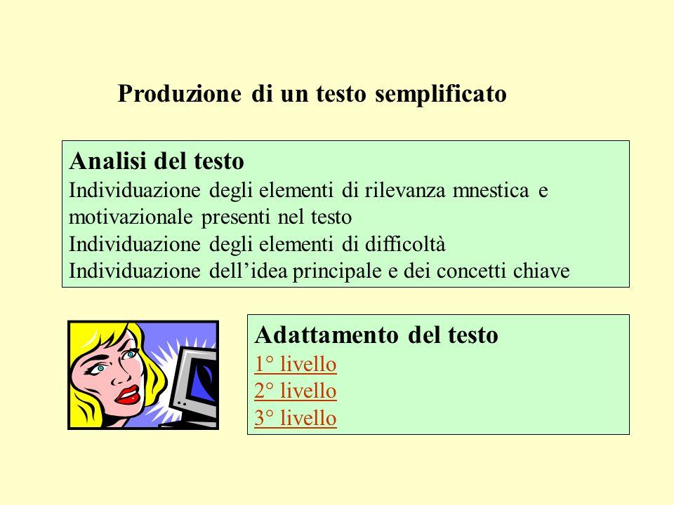 Produzione di un testo semplificato