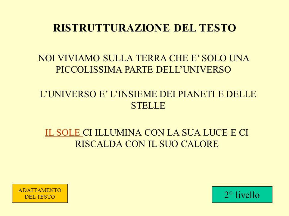 RISTRUTTURAZIONE DEL TESTO