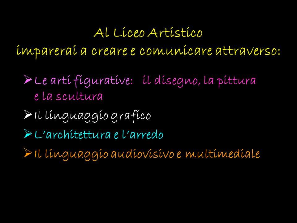 Al Liceo Artistico imparerai a creare e comunicare attraverso: