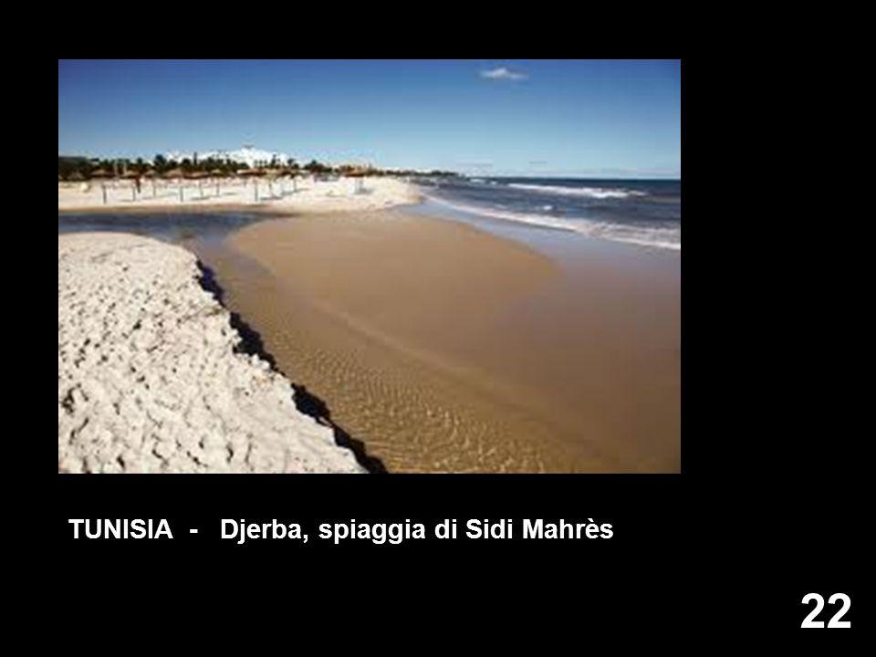 TUNISIA - Djerba, spiaggia di Sidi Mahrès