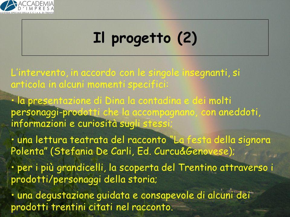 Il progetto (2) L'intervento, in accordo con le singole insegnanti, si articola in alcuni momenti specifici: