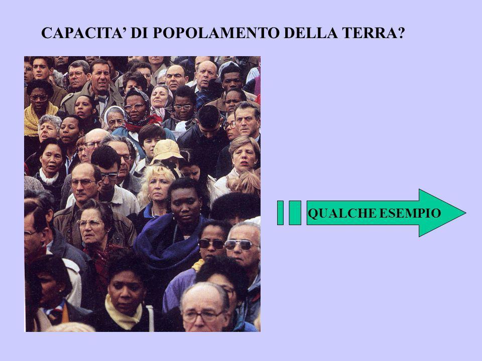 CAPACITA' DI POPOLAMENTO DELLA TERRA