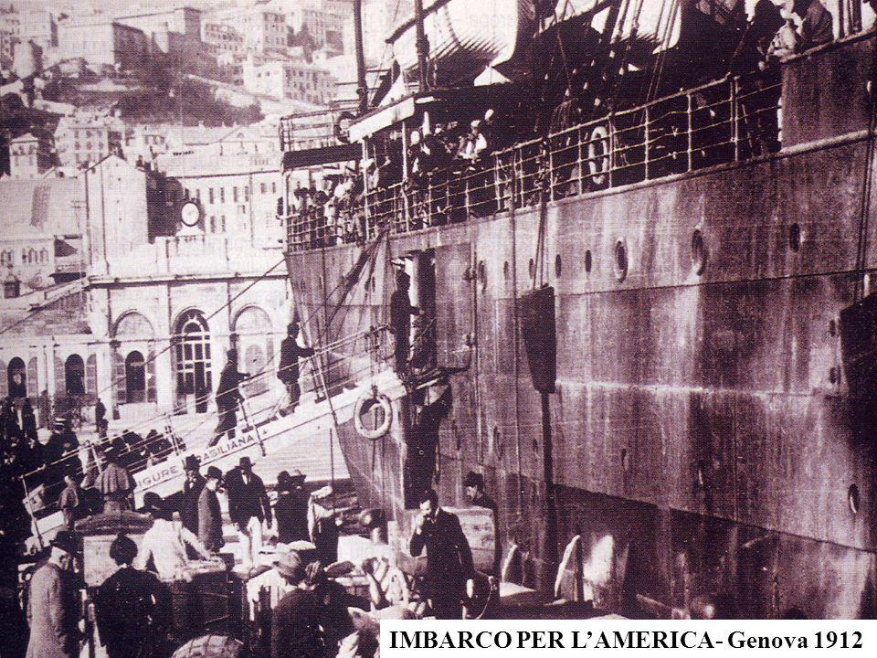 IMBARCO PER L'AMERICA- Genova 1912