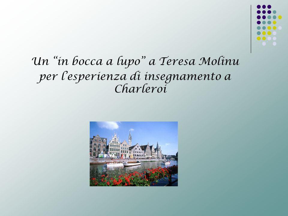 Un in bocca a lupo a Teresa Molinu