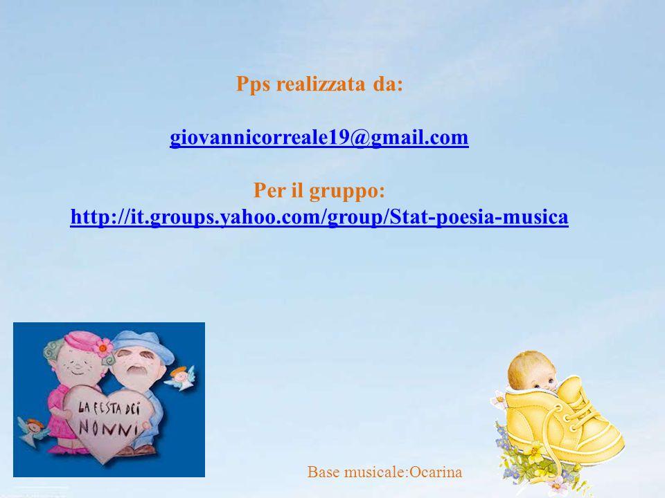 Pps realizzata da: giovannicorreale19@gmail.com Per il gruppo: