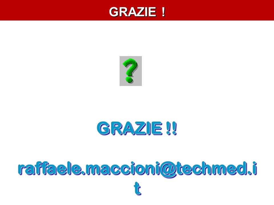 GRAZIE !! raffaele.maccioni@techmed.it