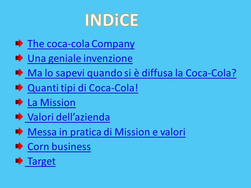 INDiCE The coca-cola Company Una geniale invenzione