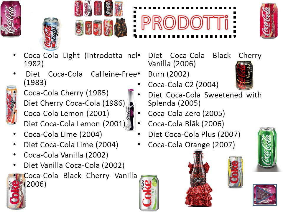 PRODOTTi Coca-Cola Light (introdotta nel 1982)