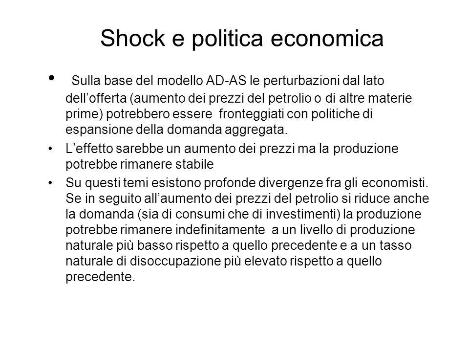 Shock e politica economica