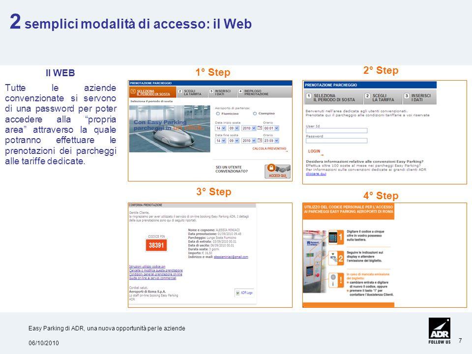 2 semplici modalità di accesso: il Web