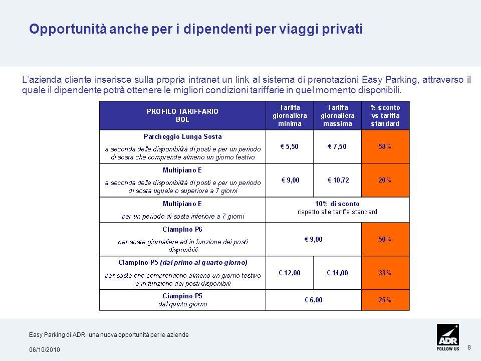 Opportunità anche per i dipendenti per viaggi privati