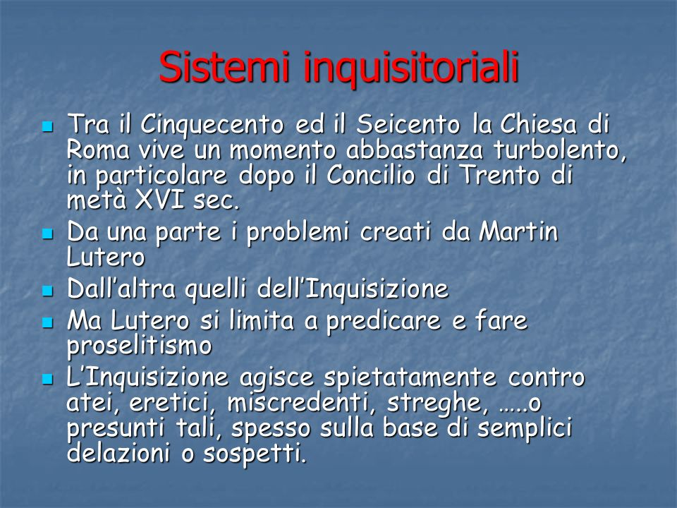 Sistemi inquisitoriali