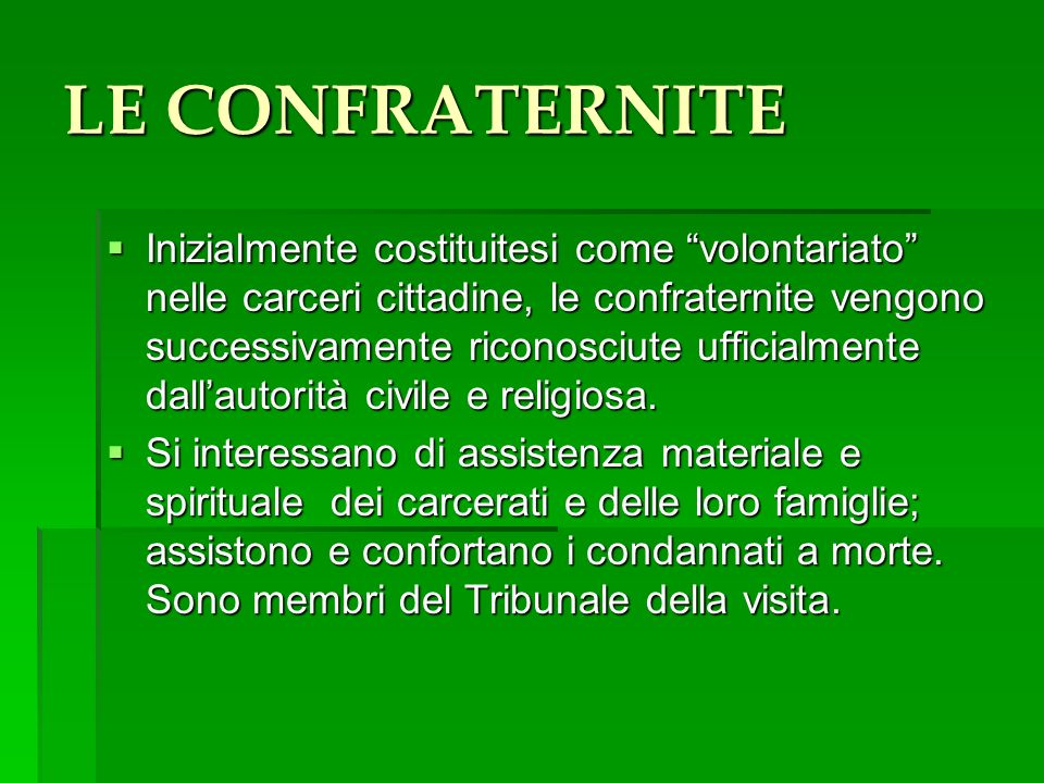 LE CONFRATERNITE