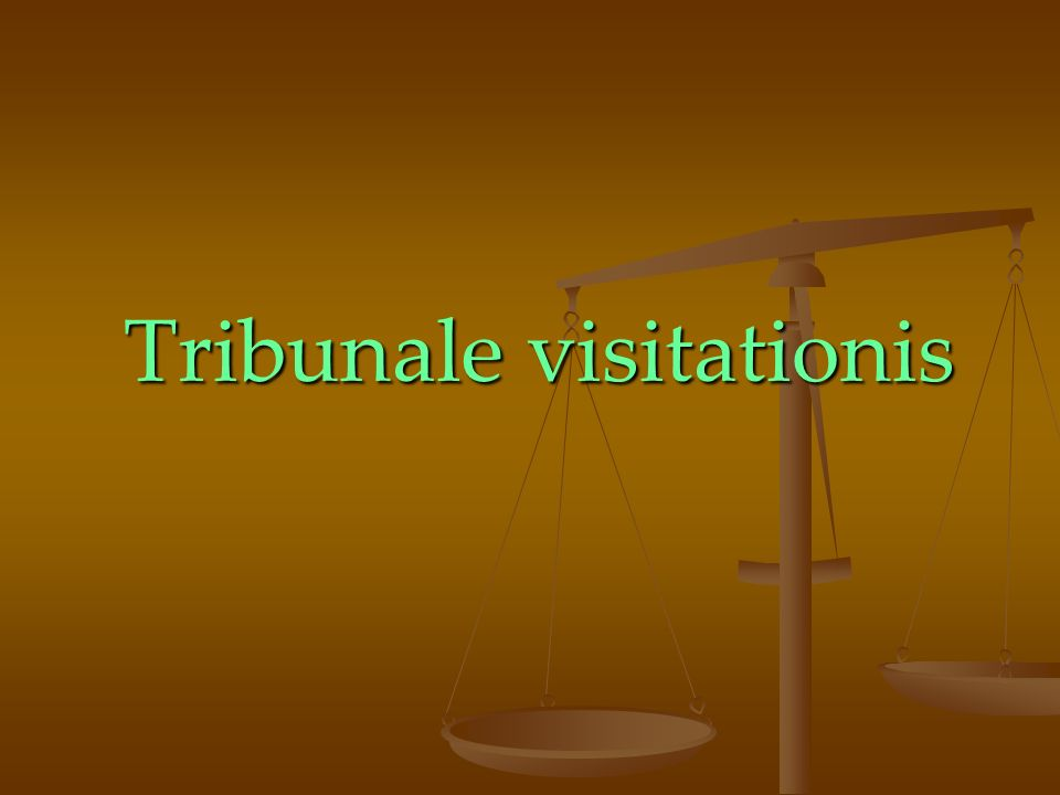 Tribunale visitationis