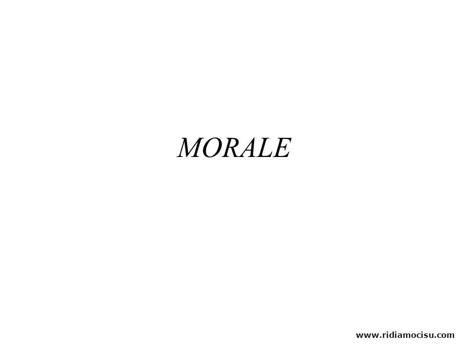 MORALE www.ridiamocisu.com