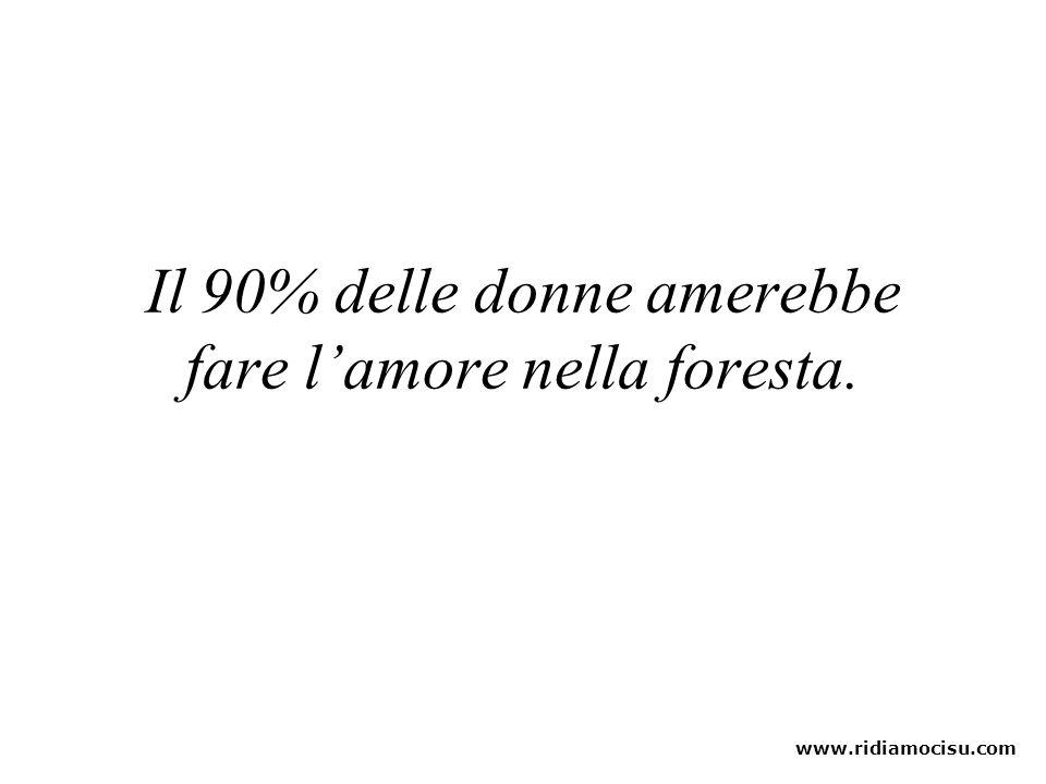 Il 90% delle donne amerebbe fare l'amore nella foresta.