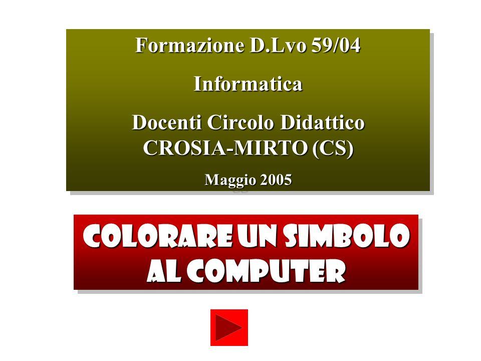 COLORARE UN SIMBOLO AL COMPUTER