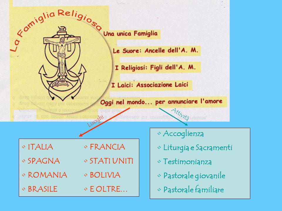 Accoglienza Liturgia e Sacramenti Testimonianza Pastorale giovanile