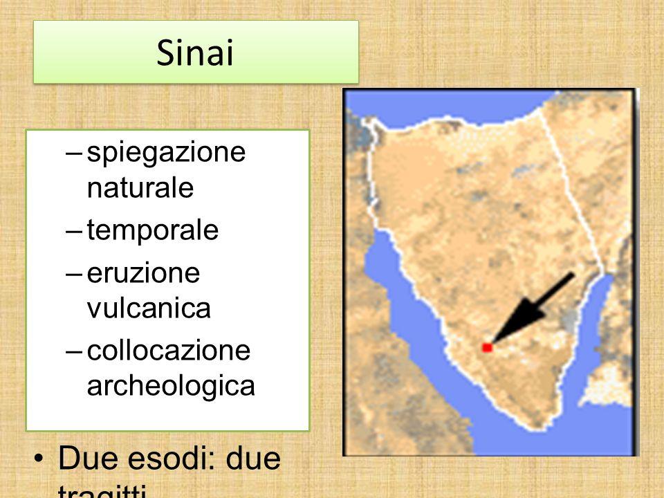 Sinai Due esodi: due tragitti spiegazione naturale temporale