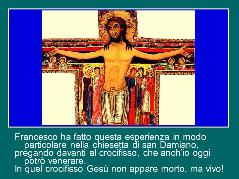 Francesco ha fatto questa esperienza in modo particolare nella chiesetta di san Damiano, pregando davanti al crocifisso, che anch'io oggi potrò venerare.