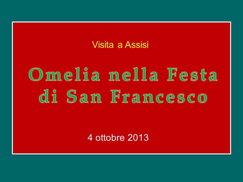 Omelia nella Festa di San Francesco
