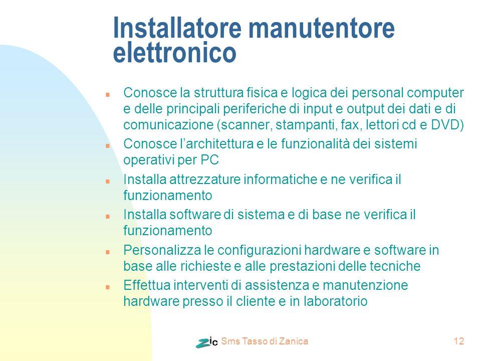 Installatore manutentore elettronico