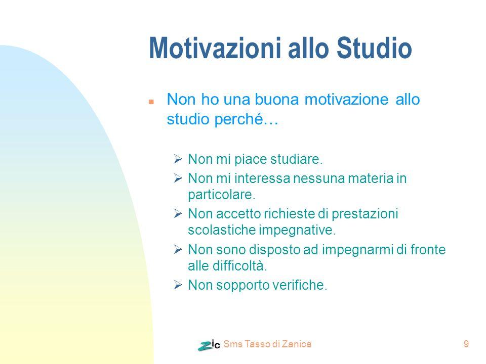 Motivazioni allo Studio