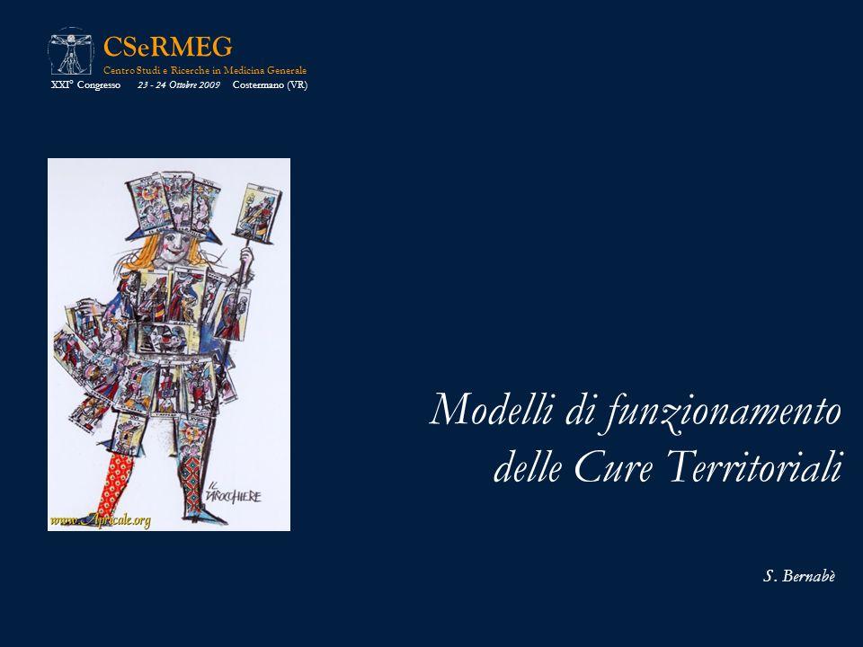 Modelli di funzionamento delle Cure Territoriali