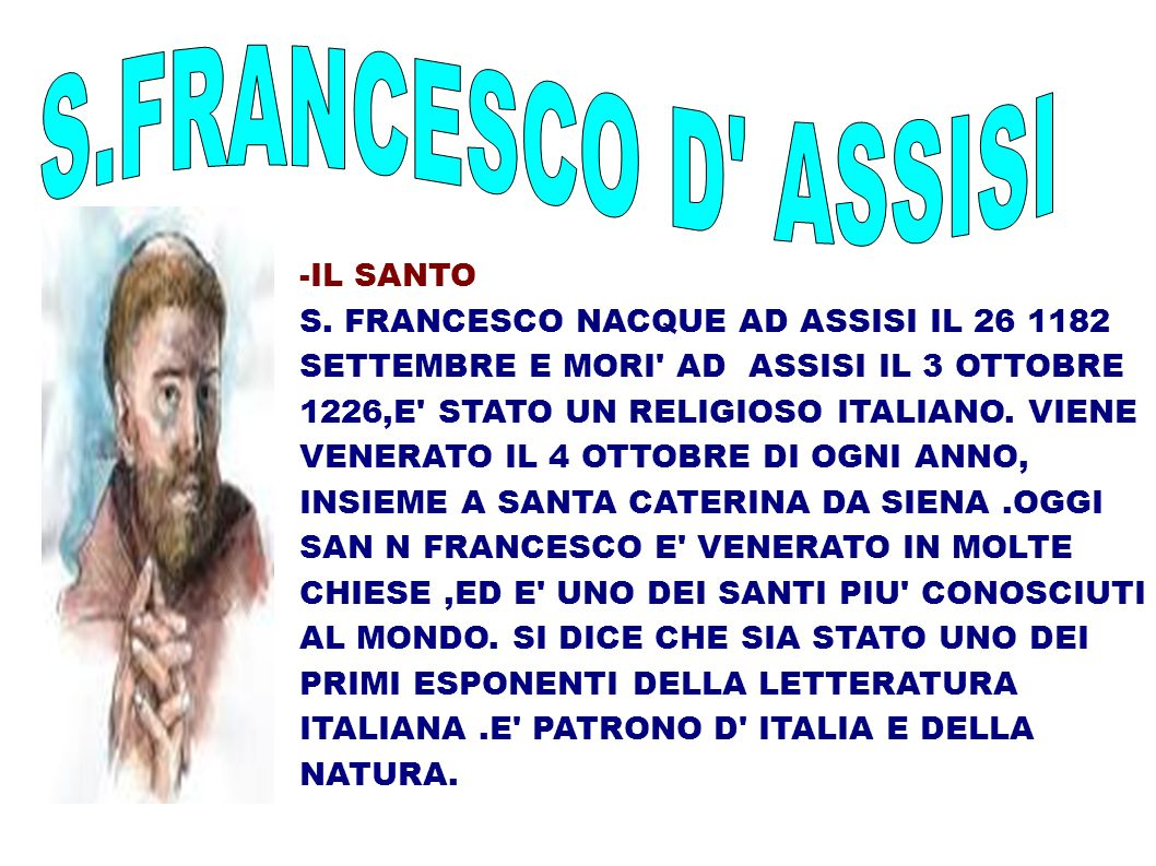 S.FRANCESCO D ASSISI -IL SANTO