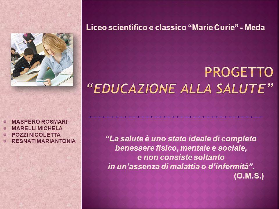 Progetto Educazione alla salute