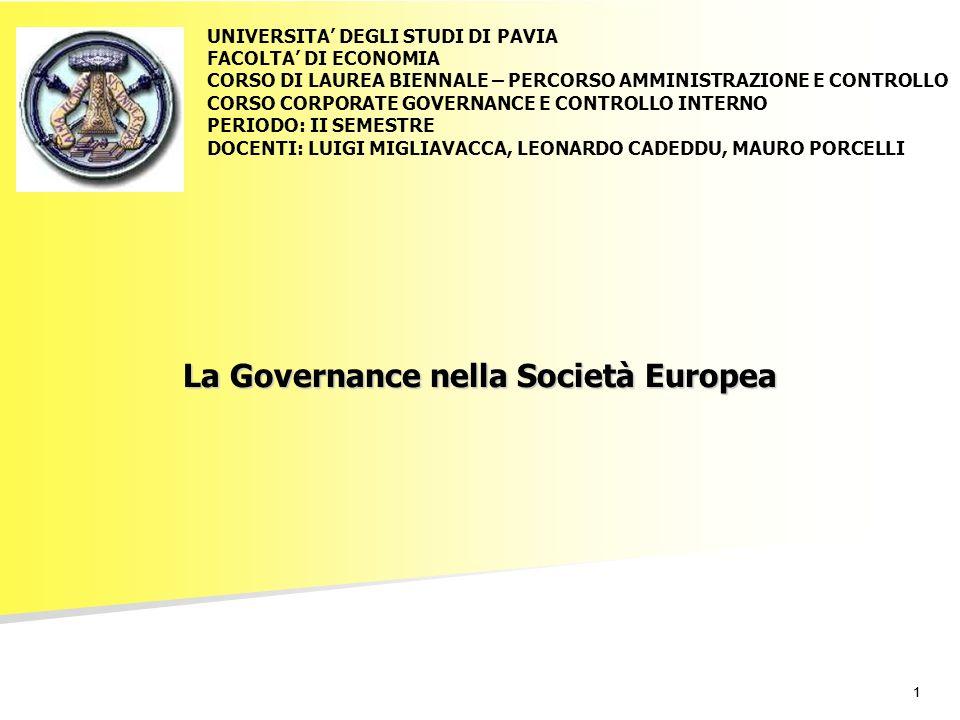 La Governance nella Società Europea