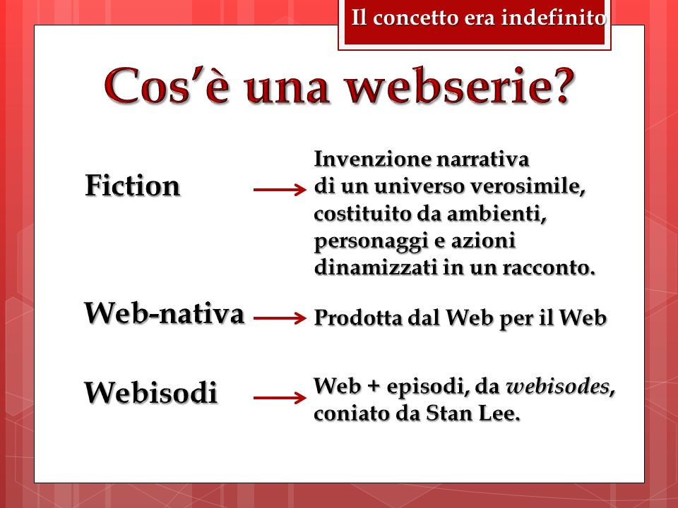 Cos'è una webserie Fiction Web-nativa Webisodi