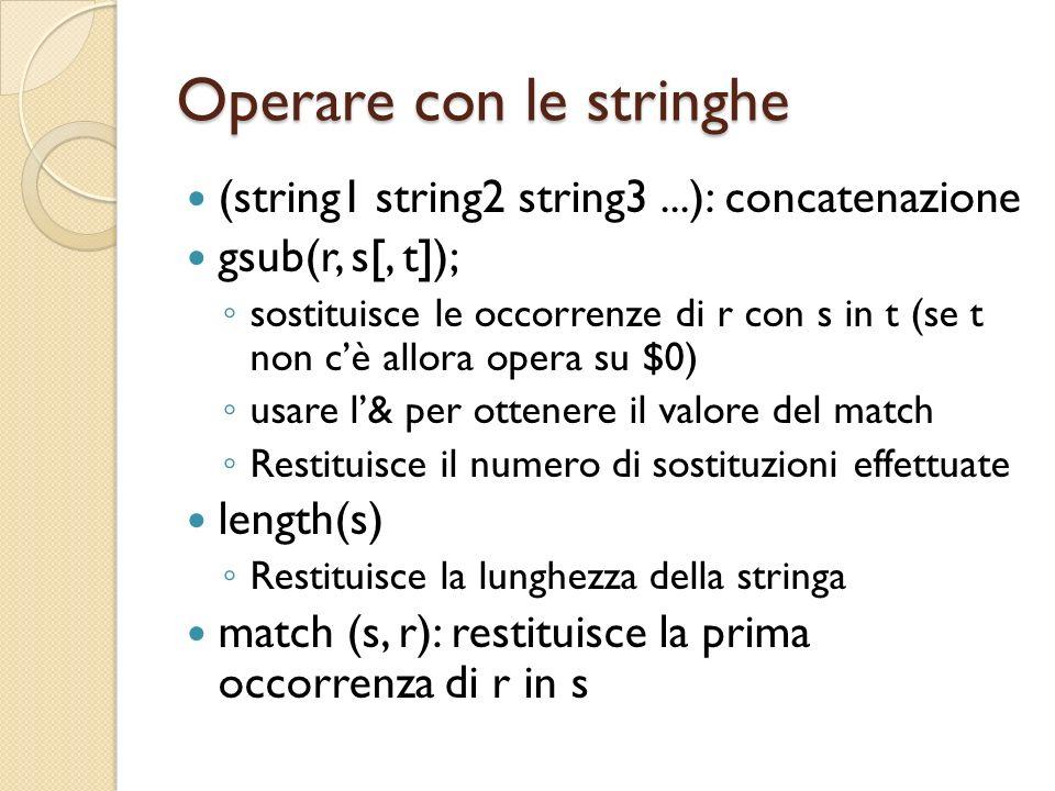 Operare con le stringhe