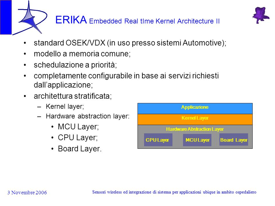 ERIKA Embedded Real tIme Kernel Architecture II