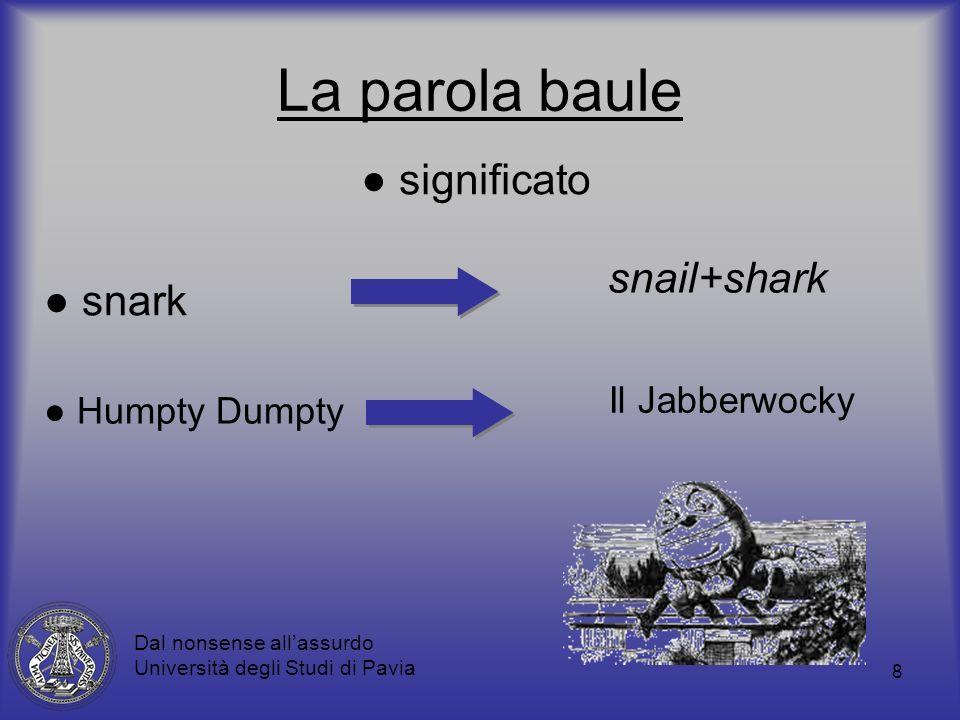 La parola baule ● significato snail+shark ● snark Il Jabberwocky