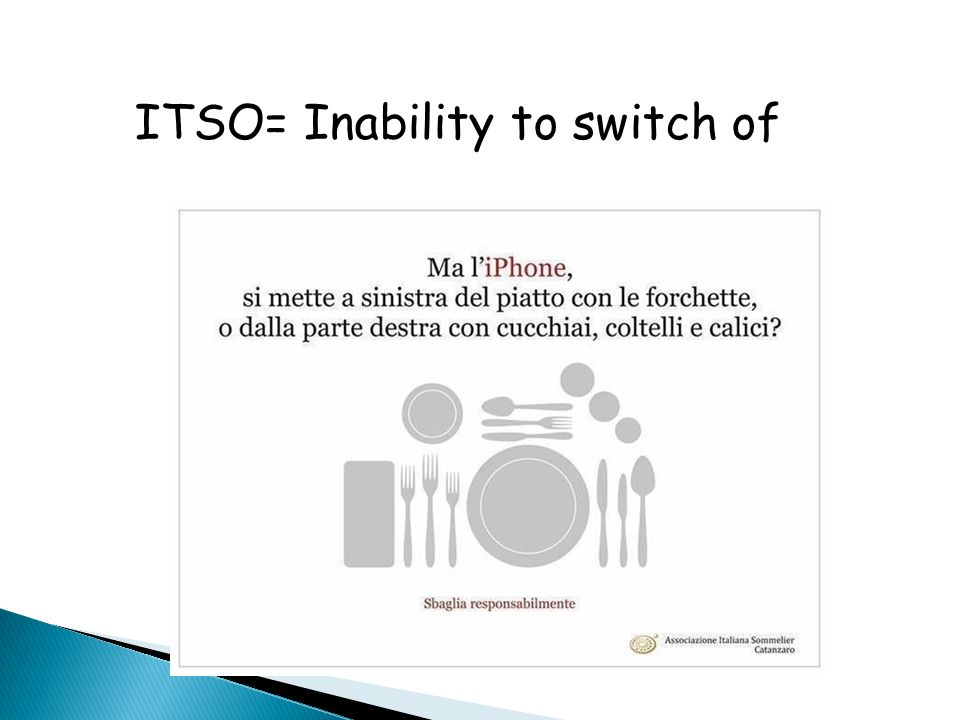 ITSO= Inability to switch of