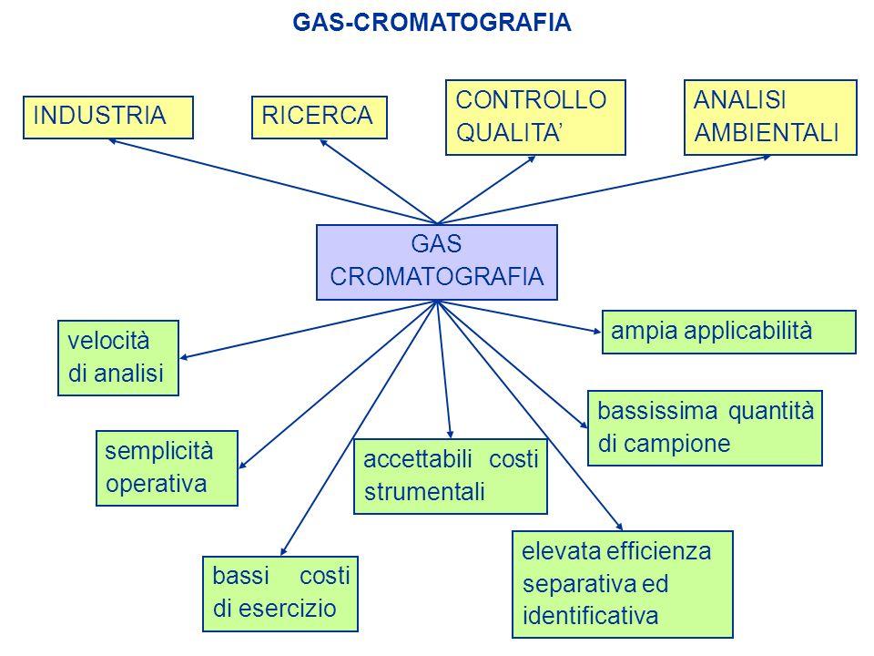 GAS-CROMATOGRAFIA ANALISI AMBIENTALI. CONTROLLO QUALITA' INDUSTRIA. RICERCA. GAS CROMATOGRAFIA.